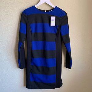 NWT Michael Kors Striped Dark Azure Dress